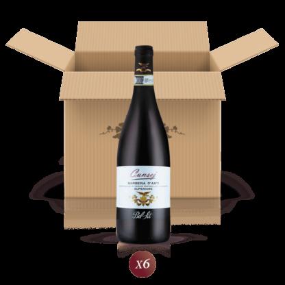 Cunsej - confezione da 6 bottiglie di vino Barbera d'Asti DOCG in riserva - Bel Sit Winery