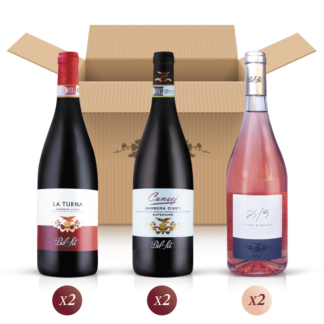 Elisir Argento - mixed pack of 6 bottles for a Piedmont wine tasting - Bel Sit Winery