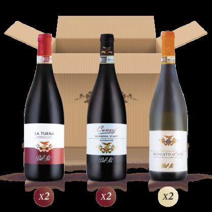 Elisir Oro - confezione mista da 6 bottiglie per una degustazione di vino del Piemonte - Bel Sit Winery